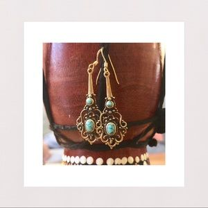 Jewelry - New | Antique Style Howlite & Bronze Drop Earrings